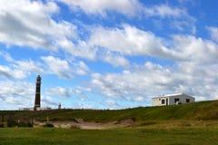 Cabo Polonio天空和云彩 免版税库存图片