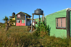 Cabo Polonio房子 免版税库存图片