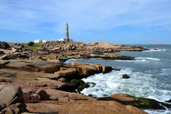 Cabo Polonio灯塔 免版税图库摄影