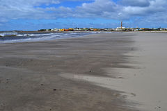 Cabo Polonio海滩 免版税库存照片