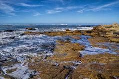 Cabo Polonio. Amazing view of waves peacefully washing the coast in Cabo Polonio Royalty Free Stock Photography