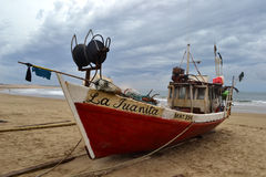 Cabo Polonio boats Stock Images