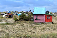 Cabo Polonio houses Stock Photo