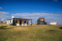 Cabo Polonio. Picturesque view of colorful houses in Cabo Polonio Stock Photos
