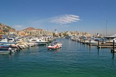 Cabo Port Marina Stock Photo