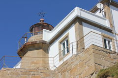 Cabo Prioriño lighthouse in Ferrol Stock Photo
