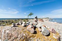 Cabo Purekkari em Estônia fotografia de stock
