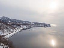 Cabo Puyuni, ciudad de Utoro, Shiretoko, Hokkaido, Japón fotos de archivo