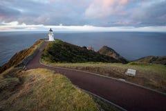 Cabo Reinga, Nueva Zelanda del faro Imagen de archivo libre de regalías