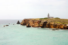 Cabo Rojo's Los Morrillos Lighthouse. Located at the Southwestern tip of the island Royalty Free Stock Image