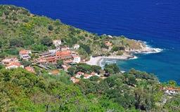 Cabo San Andrea, isla de Elba, Italia Fotografía de archivo
