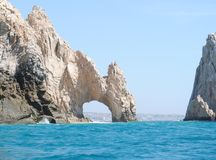Cabo San Lucas Arch. Nice shot from reverse side of the Arch in cabo San Lucas, Mexico Royalty Free Stock Photos