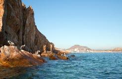 Cabo San Lucas Baja Mexico as seen from Pelikan rock at Lands End Royalty Free Stock Photo