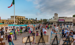 Cabo San Lucas beach front. San Jose, Mexico - April 26/ 2016: Artists display there artwork in the main square of town which is a popular draw for tourists and Stock Photography