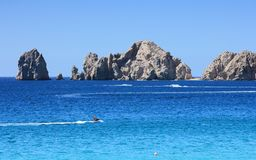 Cabo San Lucas Land's End and Jet Skis Stock Photo