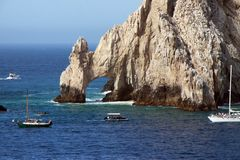 Cabo San Lucas Lands End. Rock arch at Land's End in Cabo San Lucas Mexico Royalty Free Stock Images