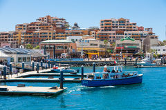 Cabo San Lucas marina on Baja California, Mexico. Stock Photo