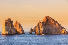 Cabo San Lucas, Mexico. The arch of Cabo San Lucas at sunrise. Mexico Stock Photography