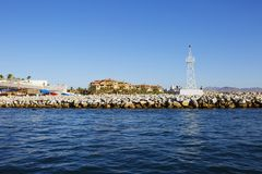 Cabo San Lucas, Mexico, Cityscape. Cabo San Lucas is often called the pearl of the California Peninsula. The Peninsula itself is considered one of the driest Royalty Free Stock Photos