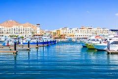 Cabo San Lucas, Mexico. The marina bay Royalty Free Stock Photos