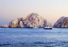 Cabo San Lucas, Mexico, rocks. Cabo San Lucas is often called the pearl of the California Peninsula. The Peninsula itself is considered to be one of the driest royalty free stock image