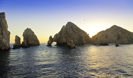 Cabo San Lucas, Mexico. Sunset at Land's End rock formation in Cabo San Lucas, Mexico Royalty Free Stock Image