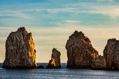 Cabo San Lucas is the most famous travel destination in Baja California.  Royalty Free Stock Image