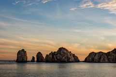 Cabo San Lucas is the most famous travel destination in Baja California.  Stock Photo
