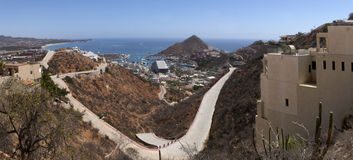 Cabo San Lucas (panorâmico) Foto de Stock Royalty Free