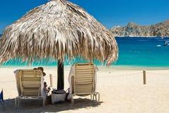 Cabo San Lucas plaży relaks Zdjęcia Stock