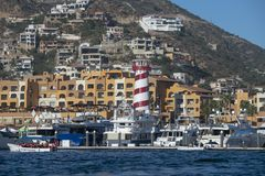 Cabo San Lucas view from Pacific ocean royalty free stock photography