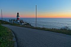 Cabo Silleiro latarnia morska zdjęcie stock