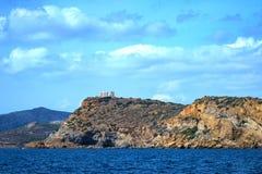 Cabo Sounion fotos de stock royalty free