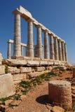 Cabo Sounion en Grecia Imagen de archivo libre de regalías