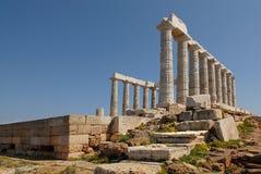 Cabo Sounion en Grecia Foto de archivo libre de regalías