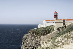Cabo St Vincent do farol Foto de Stock