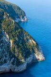 Cabo sul da ilha de Lefkas, Grécia imagem de stock royalty free