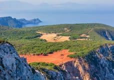 Cabo sul da ilha de Lefkas, Grécia fotografia de stock royalty free