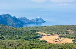 Cabo sul da ilha de Lefkas, Grécia foto de stock royalty free