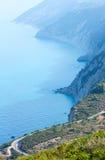 Cabo sul da ilha de Lefkas (Greece) Imagens de Stock Royalty Free