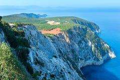 Cabo sul da ilha de Lefkas (Greece) Fotografia de Stock Royalty Free