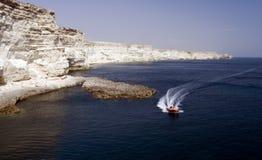 Cabo Tarhankut Imagenes de archivo