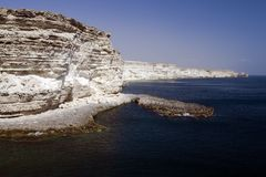 Cabo Tarhankut en Crimea Fotos de archivo