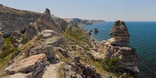 Cabo Tarkhankut Fotos de archivo