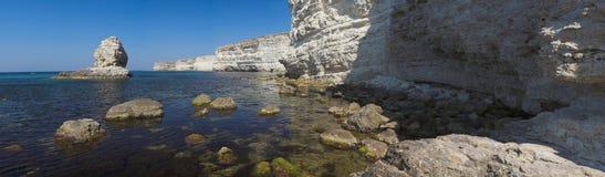 Cabo Tarkhankut, Otlesh, la Crimea, Ucrania Fotografía de archivo