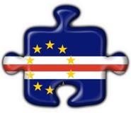 Cabo Verde button flag puzzle shape Stock Images