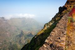 Cabo Verde mountains of Santo Antao stock photography