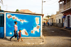 Cabo Verde map, Sal island Royalty Free Stock Image