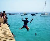 Cabo Verde - saltando Imagens de Stock Royalty Free