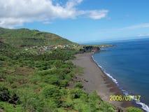 Cabo verde. Tarrafal villa beach Royalty Free Stock Photo